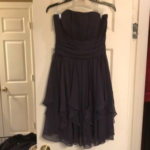 Strapless cocktail or bridesmaid dress